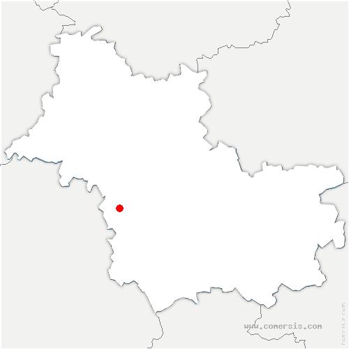 carte de localisation de Veuzain-sur-Loire