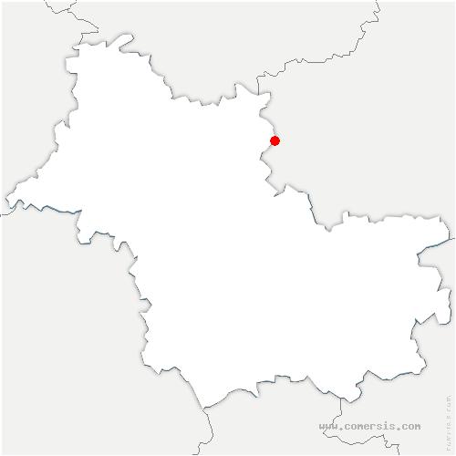carte de localisation de Villermain
