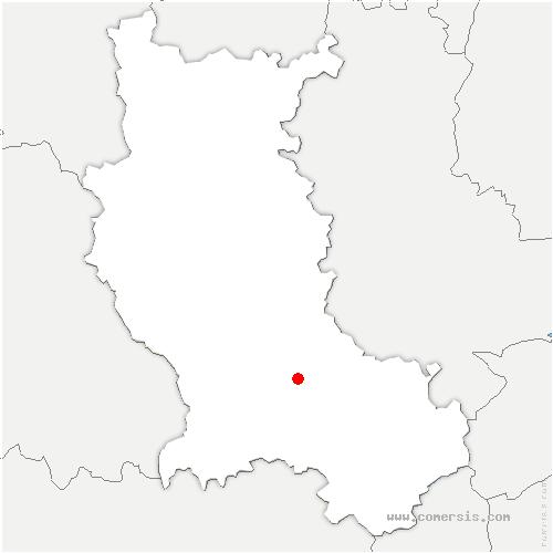 carte de localisation de Andrézieux-Bouthéon