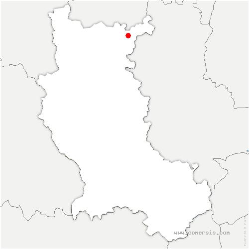 carte de localisation de Arcinges