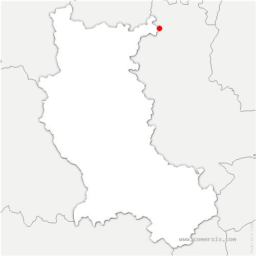 carte de localisation de Belleroche