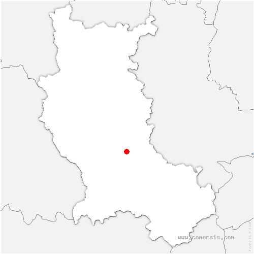carte de localisation de Boisset-lès-Montrond