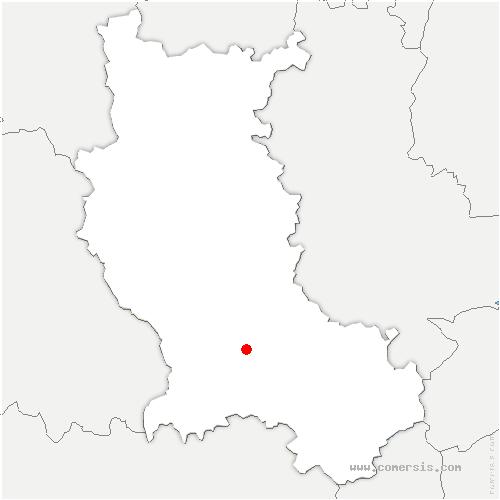 carte de localisation de Bonson