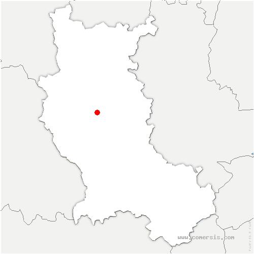 carte de localisation de Bussy-Albieux