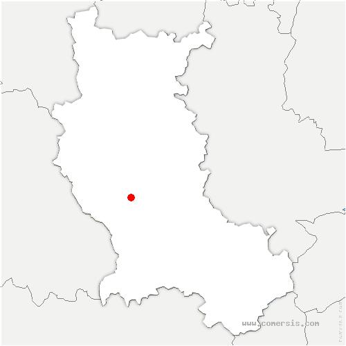 carte de localisation de Chalain-d'Uzore