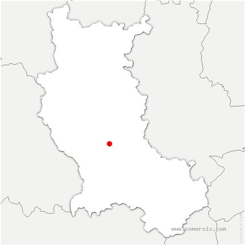 carte de localisation de Chalain-le-Comtal