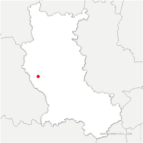 carte de localisation de Chalmazel-Jeansagnière