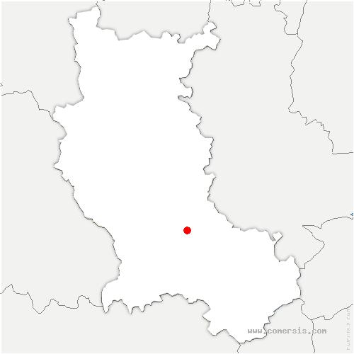carte de localisation de Chambœuf