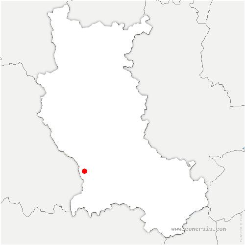 carte de localisation de Chazelles-sur-Lavieu