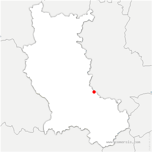 carte de localisation de Chazelles-sur-Lyon