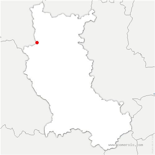 carte de localisation de Cherier