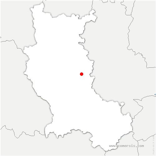 carte de localisation de Civens
