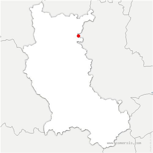 carte de localisation de Combre