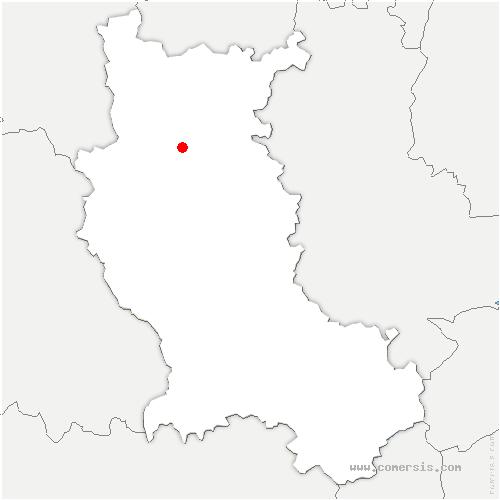 carte de localisation de Commelle-Vernay