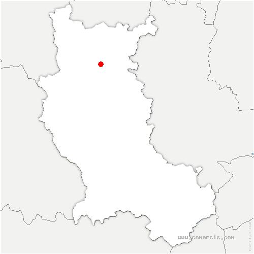 carte de localisation de Coteau