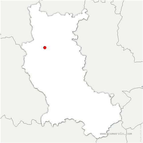 carte de localisation de Cremeaux