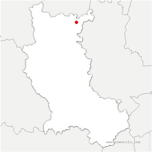 carte de localisation de Cuinzier