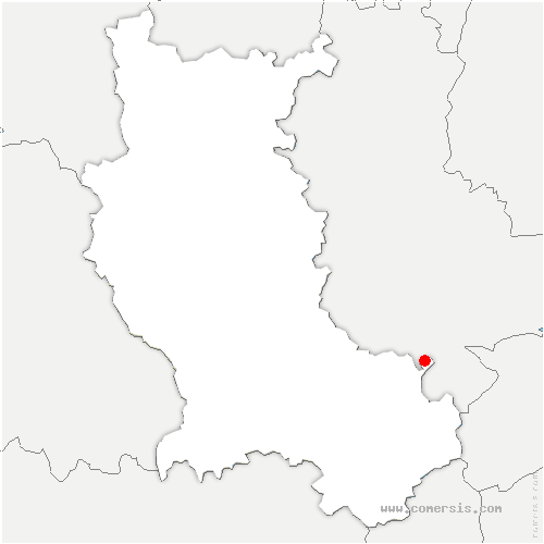 carte de localisation de Dargoire