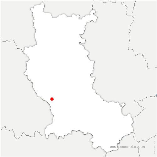 carte de localisation de Essertines-en-Châtelneuf