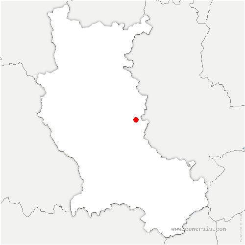 carte de localisation de Essertines-en-Donzy