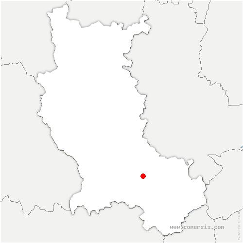 carte de localisation de Étrat