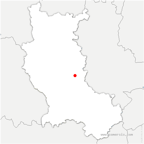 carte de localisation de Feurs