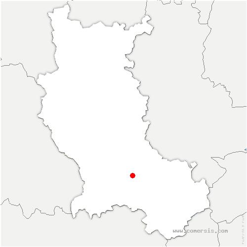 carte de localisation de Fouillouse