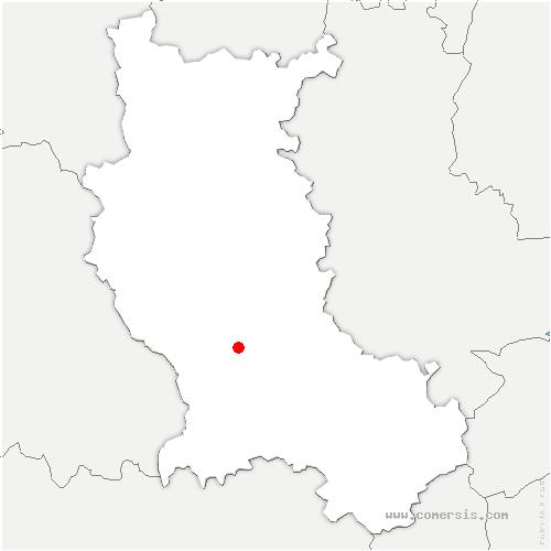 carte de localisation de Grézieux-le-Fromental
