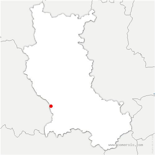carte de localisation de Gumières
