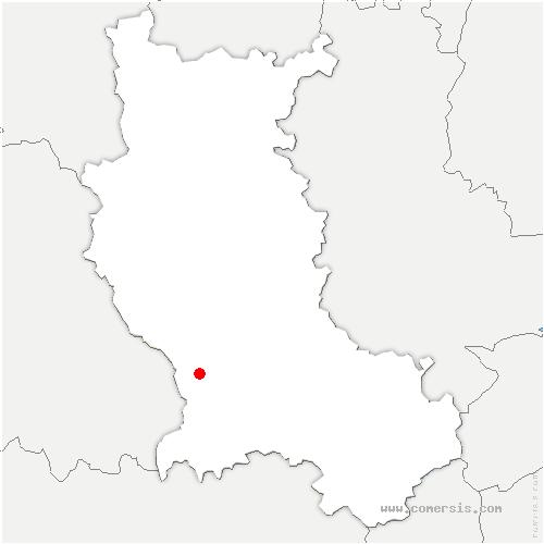 carte de localisation de Lavieu
