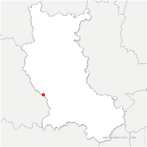 carte de localisation de Lérigneux