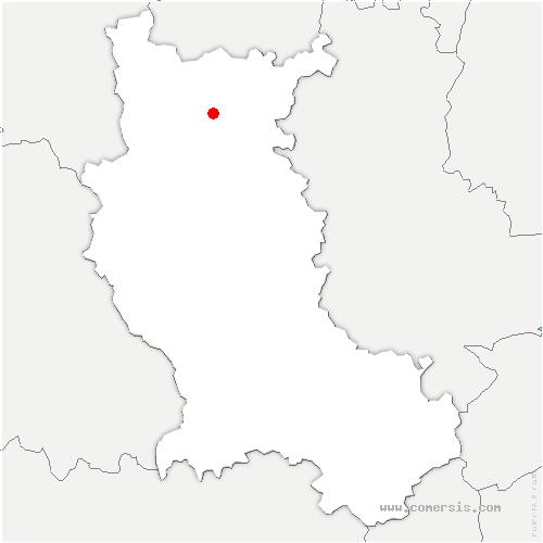 carte de localisation de Mably
