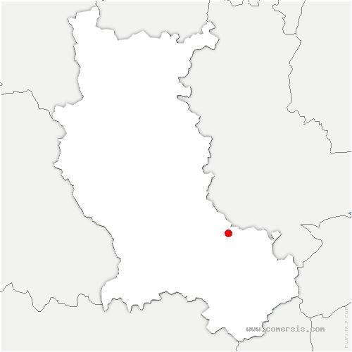 carte de localisation de Marcenod