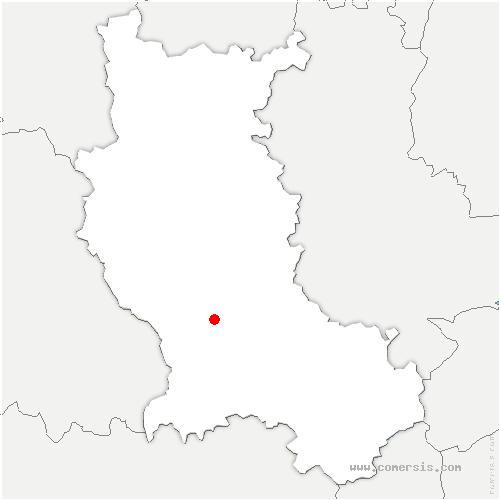 carte de localisation de Montbrison