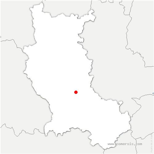 carte de localisation de Montrond-les-Bains