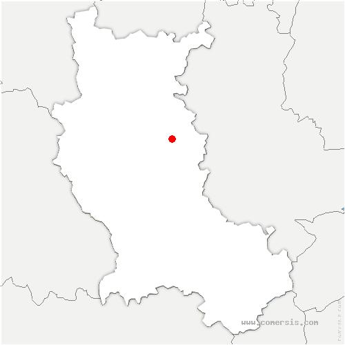 carte de localisation de Néronde