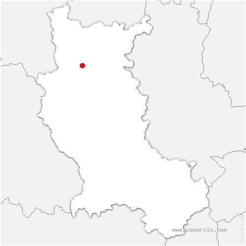 carte de localisation de Ouches