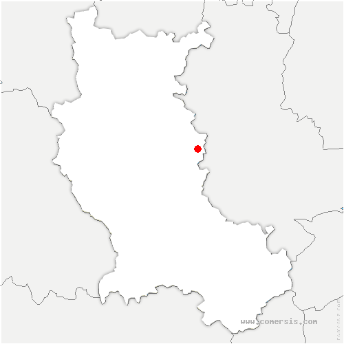 carte de localisation de Panissières
