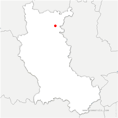 carte de localisation de Perreux
