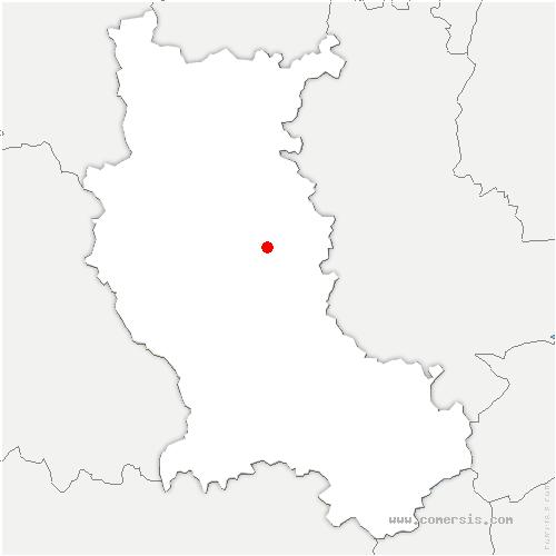 carte de localisation de Pouilly-lès-Feurs