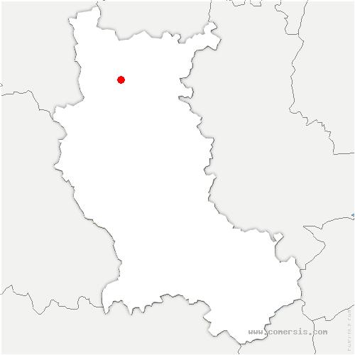 carte de localisation de Pouilly-les-Nonains