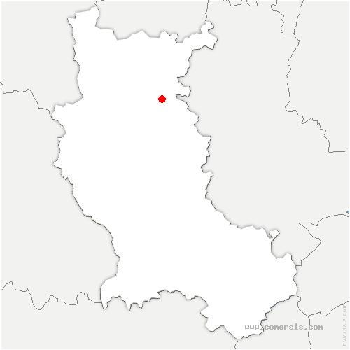 carte de localisation de Pradines