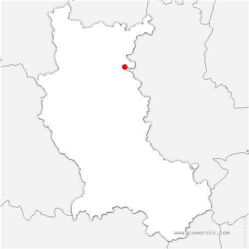 carte de localisation de Régny
