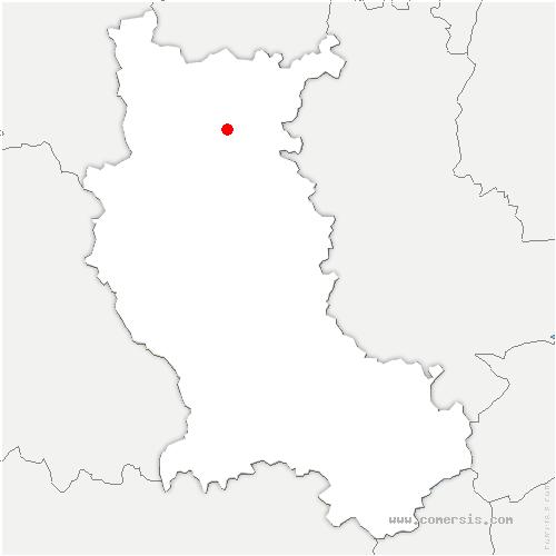 carte de localisation de Roanne