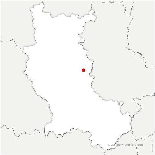 carte de localisation de Rozier-en-Donzy