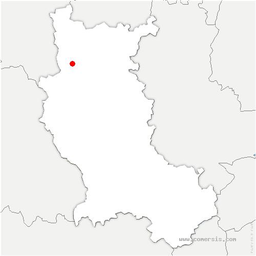 carte de localisation de Saint-André-d'Apchon
