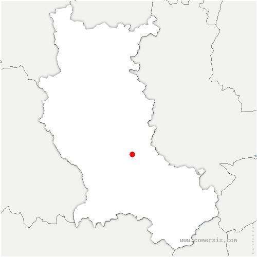 carte de localisation de Saint-André-le-Puy