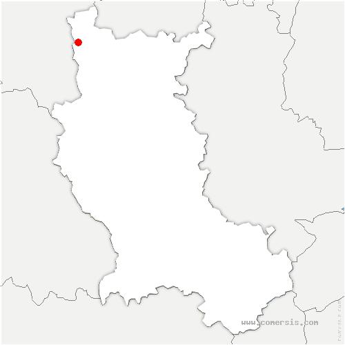 carte de localisation de Saint-Bonnet-des-Quarts