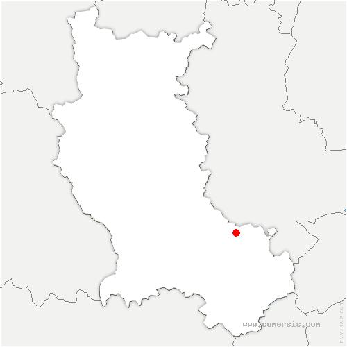 carte de localisation de Saint-Christo-en-Jarez