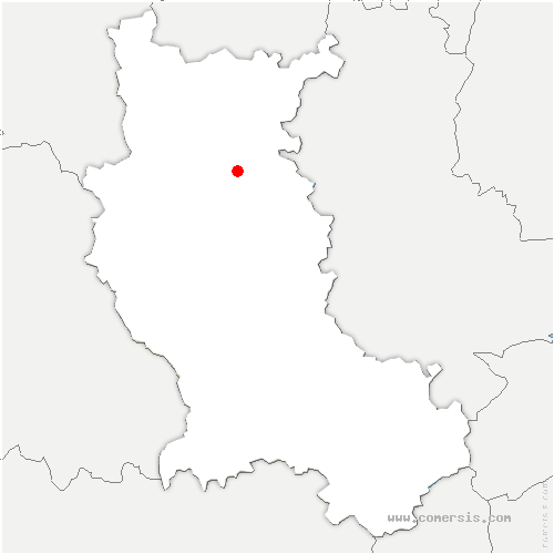 carte de localisation de Saint-Cyr-de-Favières